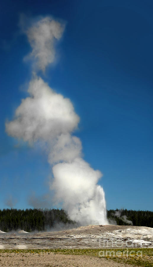 Yellowstone Photograph - Old Faithful Eruption by Gregory Dyer