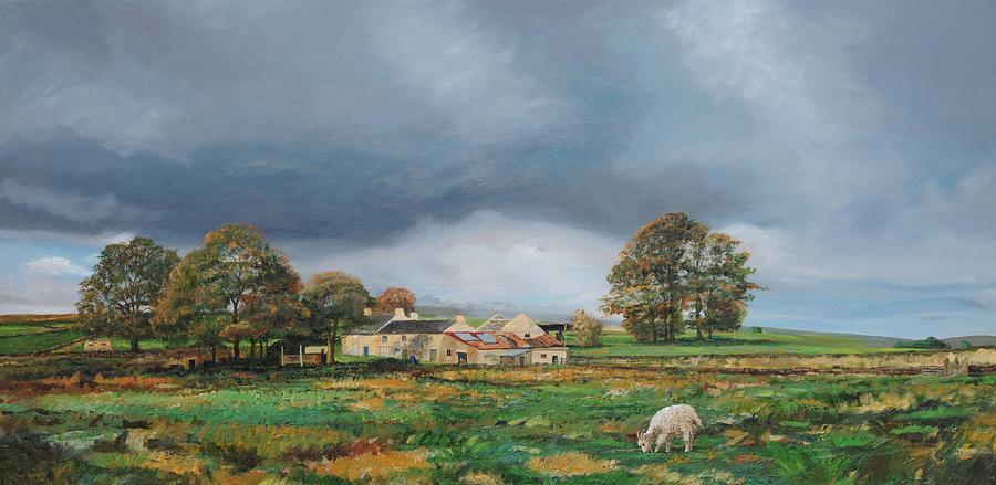 Tree Painting - Old Farm - Monyash - Derbyshire by Trevor Neal