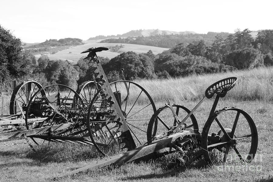 Old farm equipment 7d9744 black and white photograph for Old black and white photos for sale