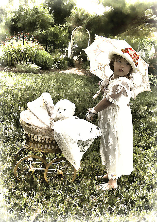 Old Photograph - Old Fashion Girl by Trudy Wilkerson