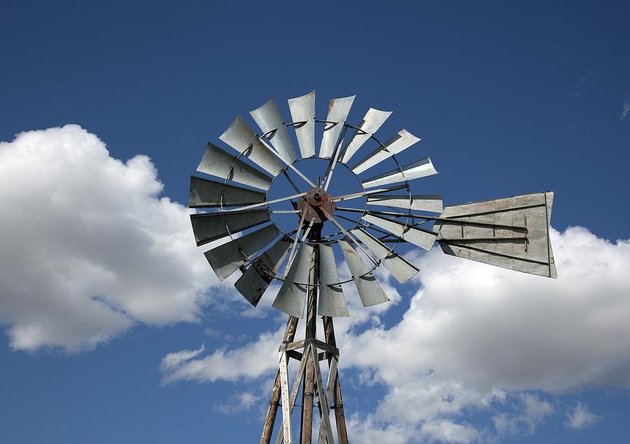 Old Fashioned Farm Windmill From Murdo Photograph by Everett