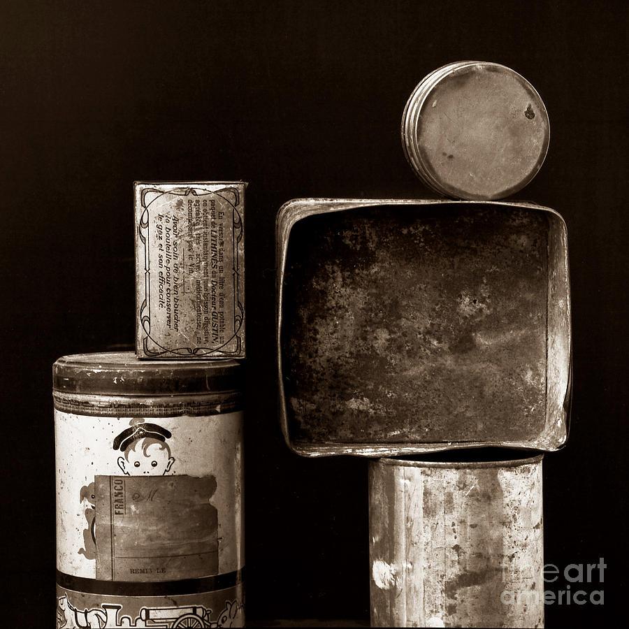 White Photograph - Old Fashioned Iron Boxes. by Bernard Jaubert
