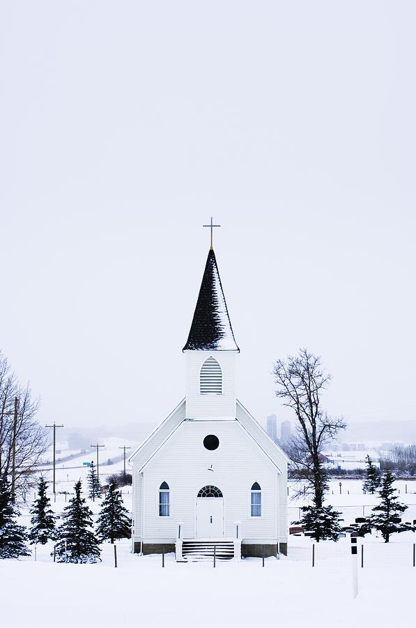 Old Fashioned Church With Steeple