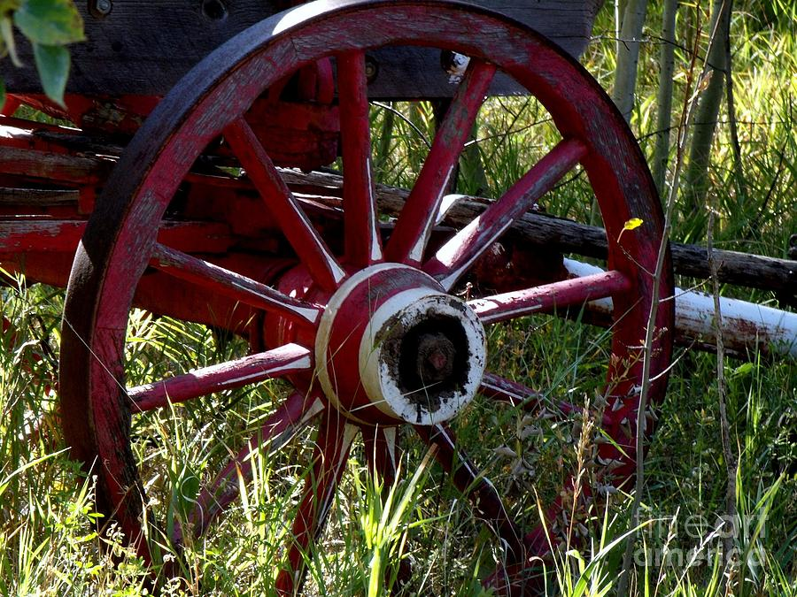 Wagon Wheel Photograph - Old Fire Wagon Wheel by Donna Parlow