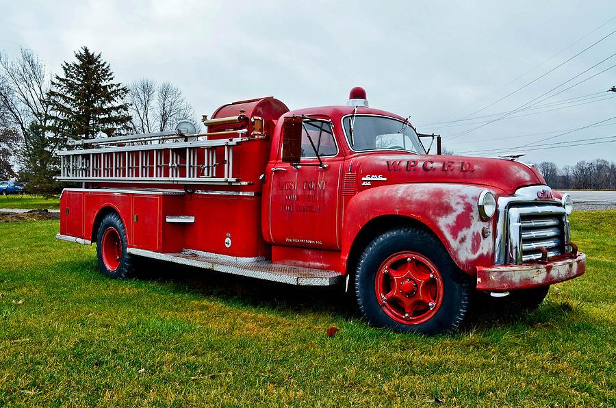 Pumper Photograph - Old Firetruck by Brenda Becker