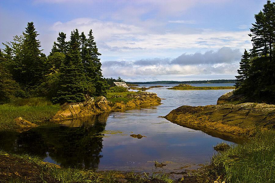 Landscape Photograph - Old Fishing Shack by Allan MacDonald