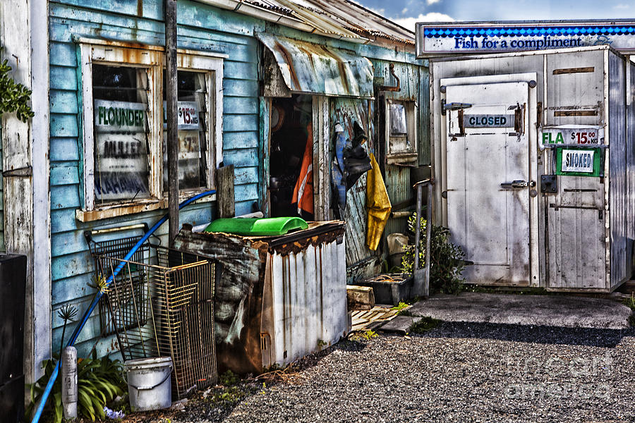 Old Store Photograph - Old Fishing Store At Rawehe by Sheila Smart Fine Art Photography