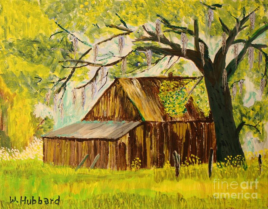 Melbourne Painting - Old Florida Farm Shed by Bill Hubbard