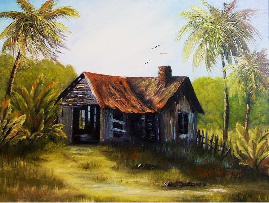 Old florida home painting by diana white for Home painting images