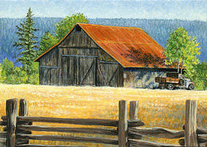 Landscape Painting - Old Ford by Shari Erickson