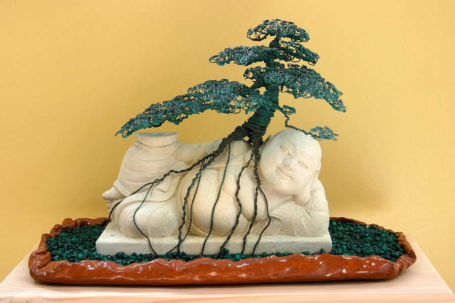Bonsai Sculpture - Old Friends by Steven Panarelli
