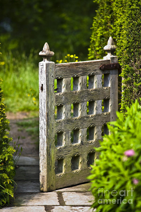 Building Photograph - Old Garden Entrance by Heiko Koehrer-Wagner