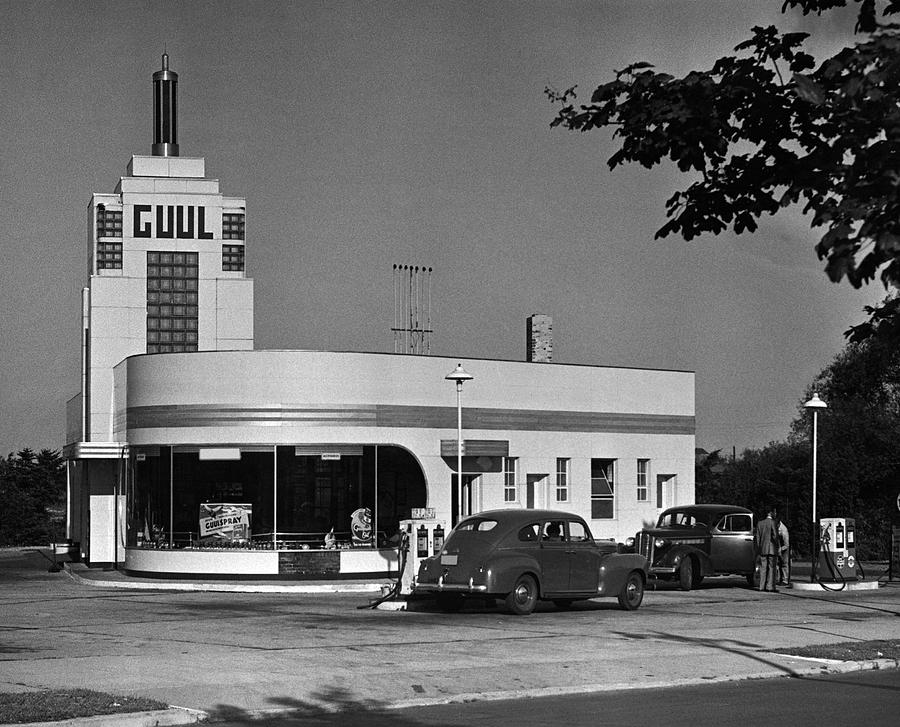 Horizontal Photograph - Old Gasoline Station by George Marks