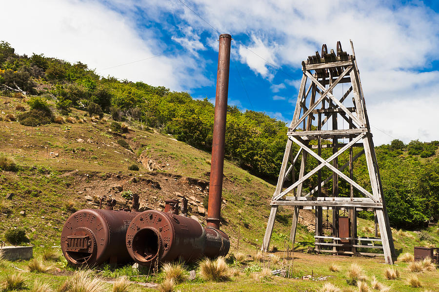 Mine Photograph - Old Gold Mine by Graeme Knox