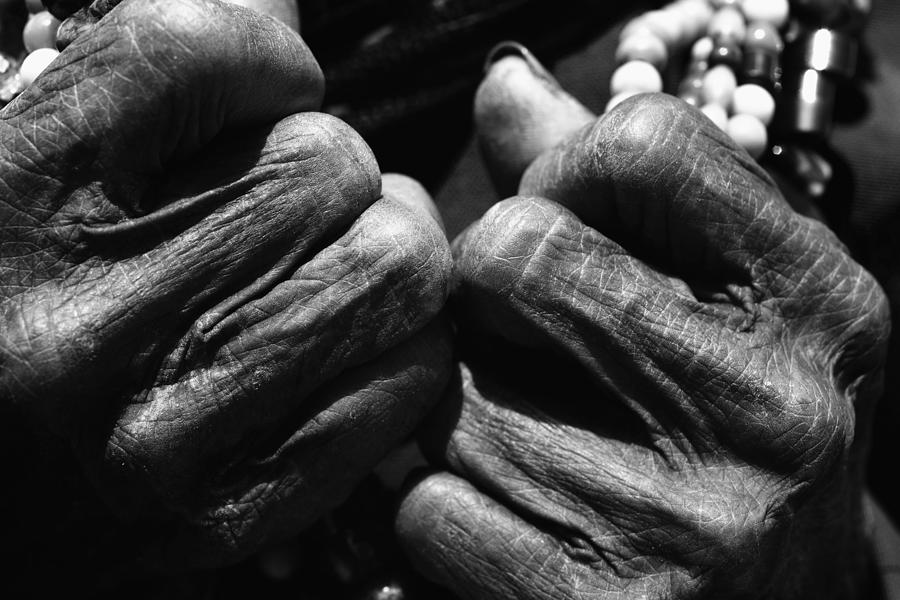 Asia Photograph - Old Hands 2 by Skip Nall