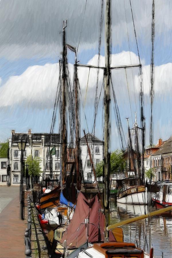 Old Harbor Pastel by Steve K