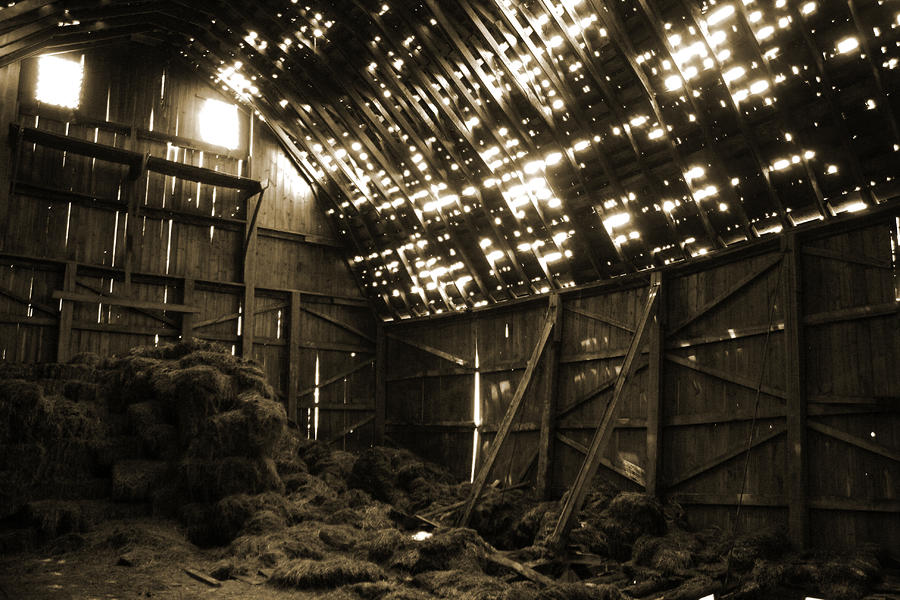 Old Hay Barn Interior Photograph By Glenn Dutcher