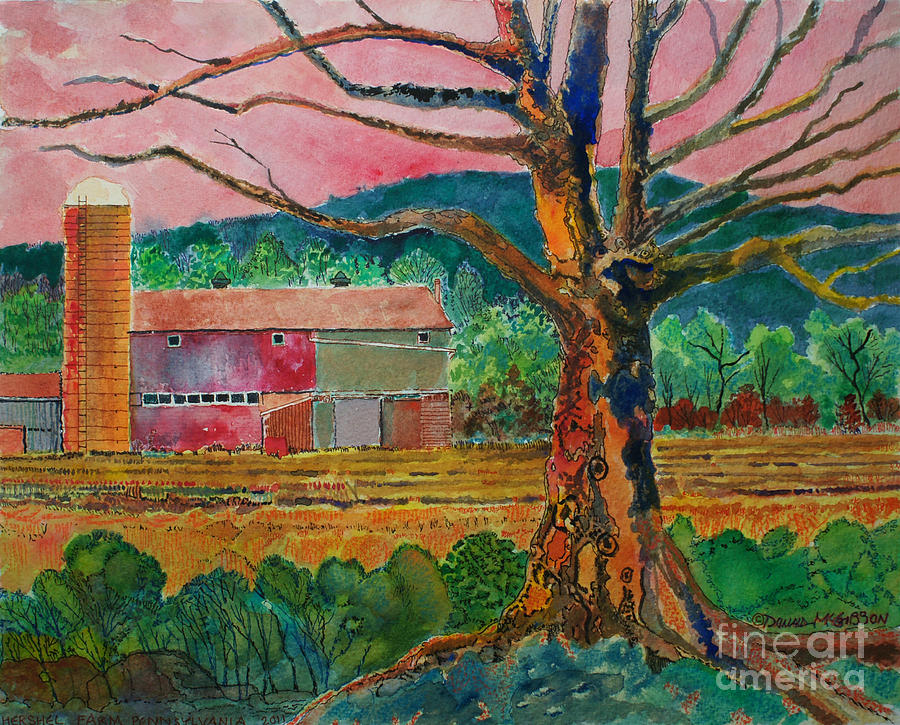Barn Painting - Old Herschel Farm by Donald McGibbon