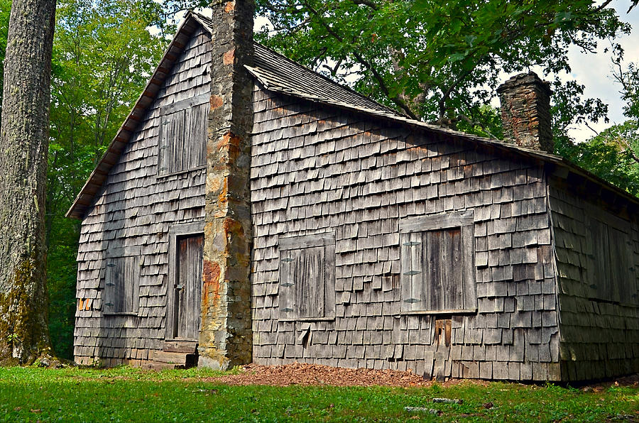 Abandoned Photograph - Old Home In Forest by Susan Leggett
