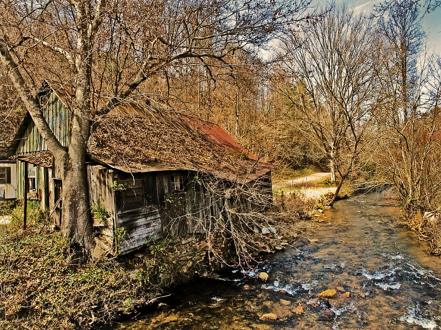Old Photograph - Old Home On A River by Susan Leggett