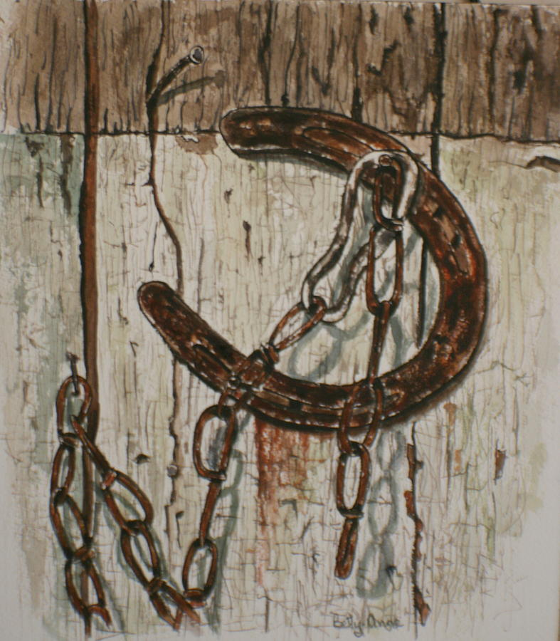 Old horseshoe painting by betty anne mcdonald for Old horseshoe projects