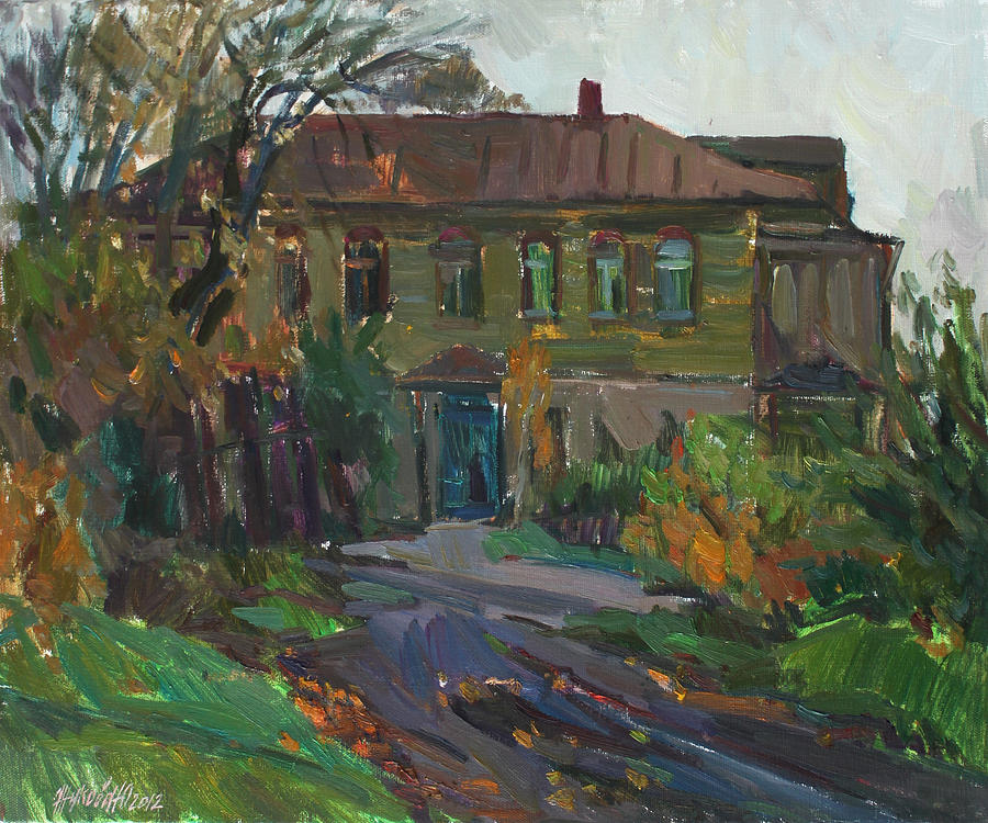 Old house painting by juliya zhukova for Classic house painting