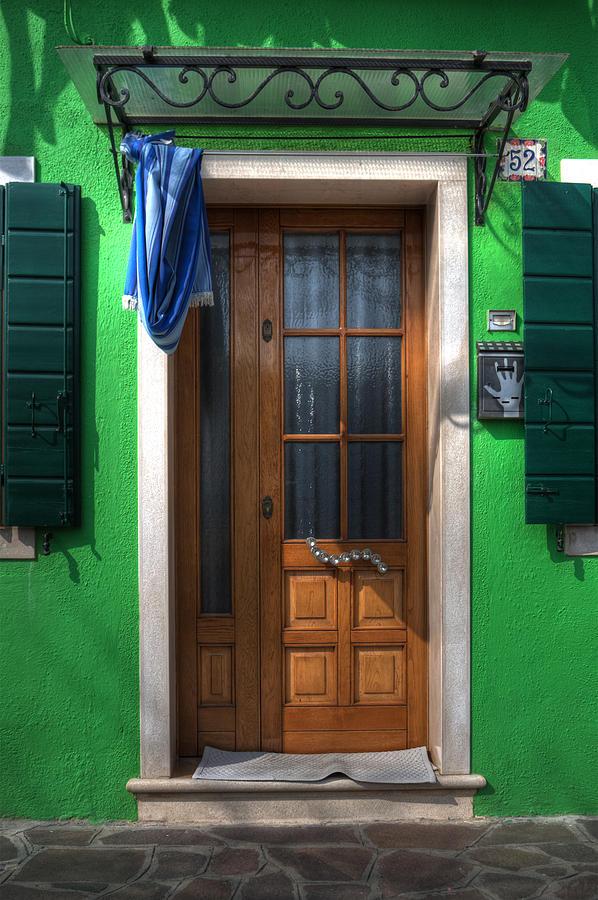 Burano Photograph - Old Italian Door by Joana Kruse