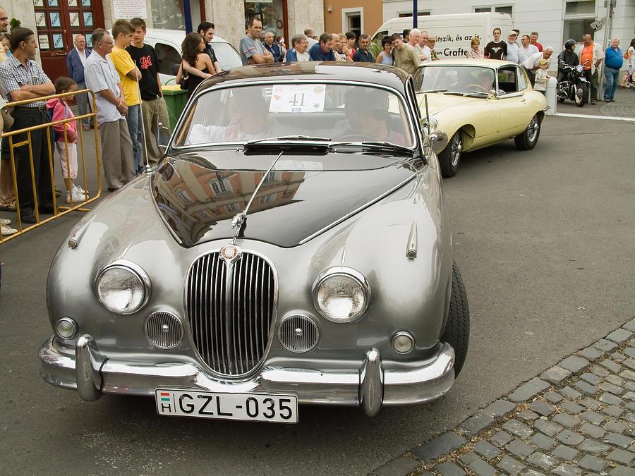Jaguar Photograph   Old Jaguar Car By Odon Czintos