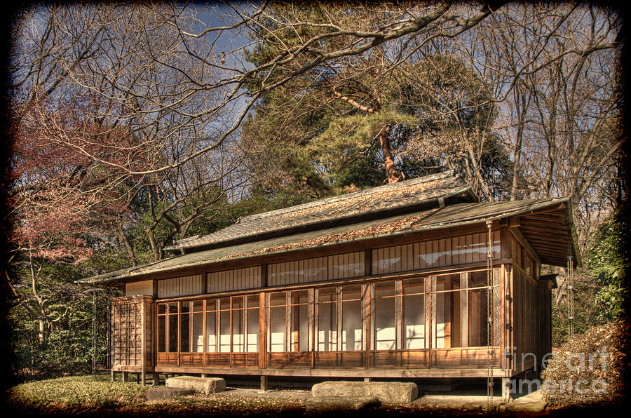 Old japanese house in autum photograph by tad kanazaki for Classic japanese house