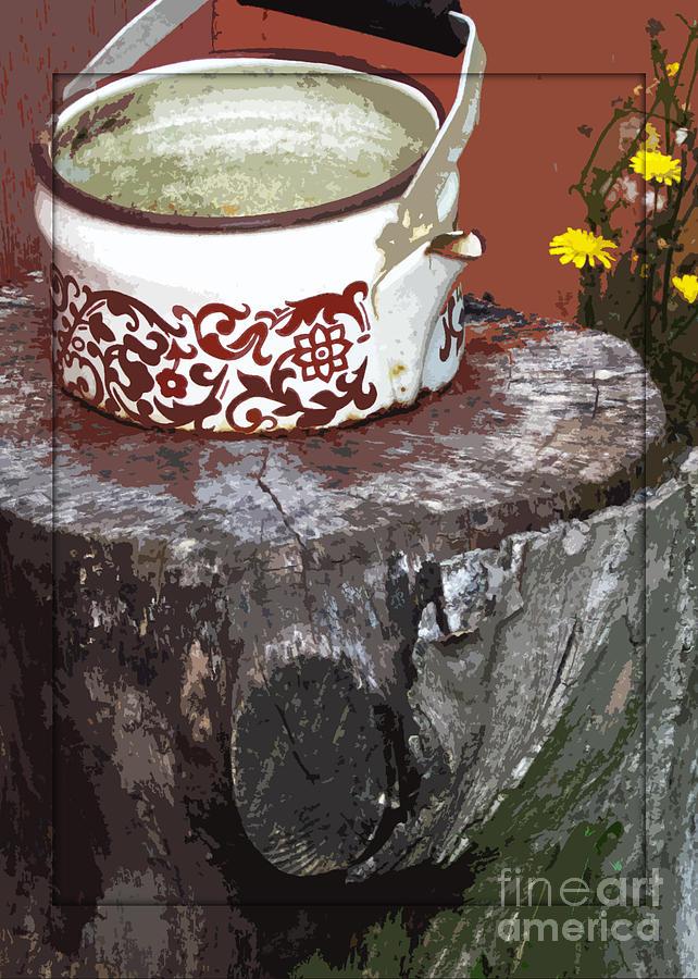 Teapot Photograph - Old Kettle by Deborah Johnson