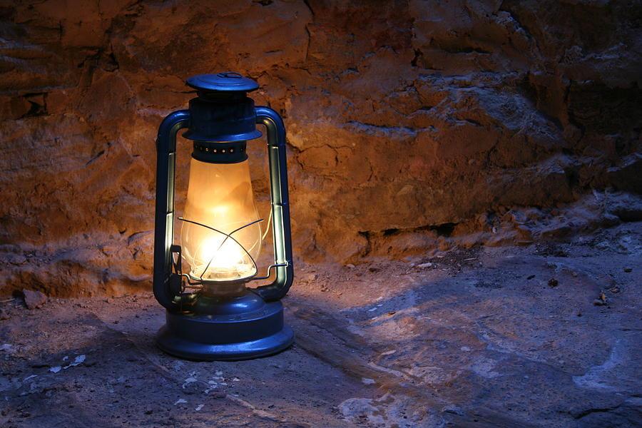 Beautiful Old Photograph   Old Lamp By Adeeb Atwan