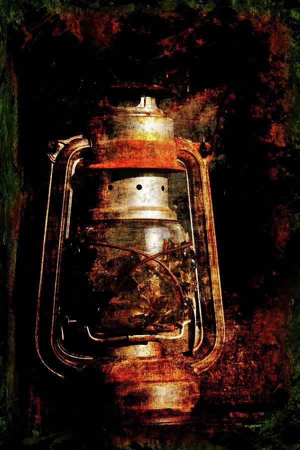 Contemporary Photograph - Old Lantern by Li   van Saathoff