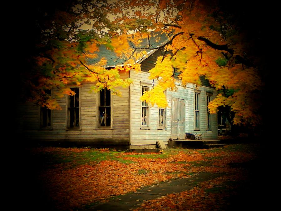 Fall Photograph - Old Lions Club by Michael L Kimble