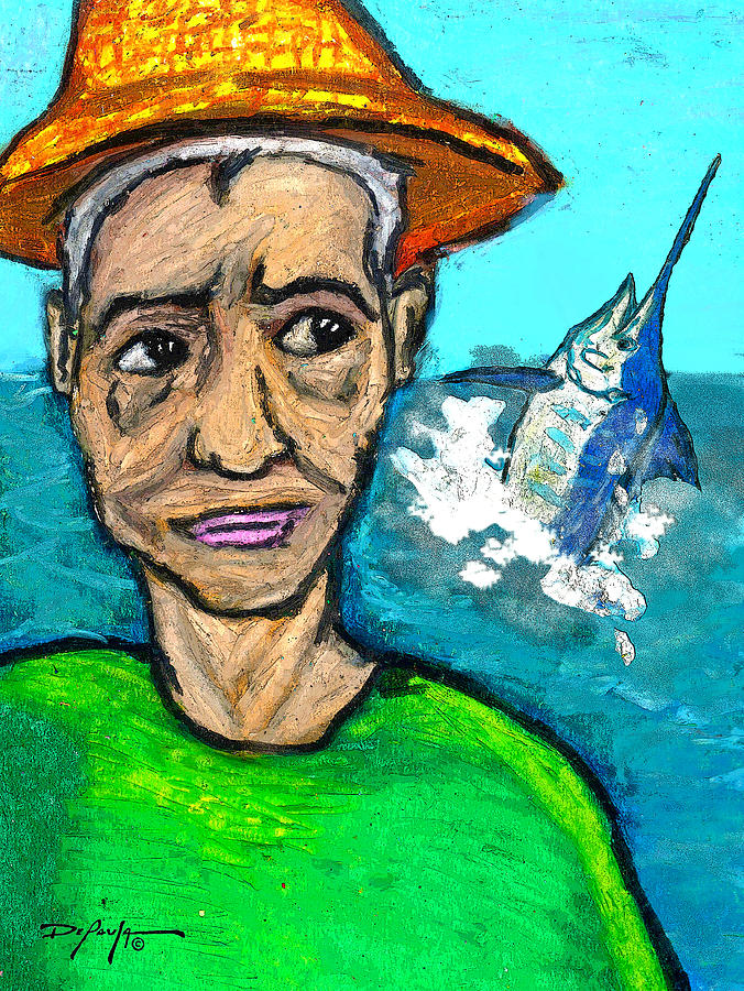 Old Man And The Sea Mixed Media - Old Man And The Sea by William Depaula
