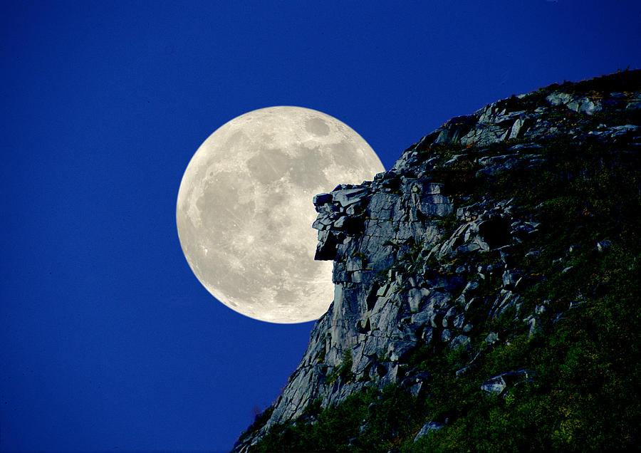 Old Man Meets The Man In The Moon Photograph by Larry Landolfi