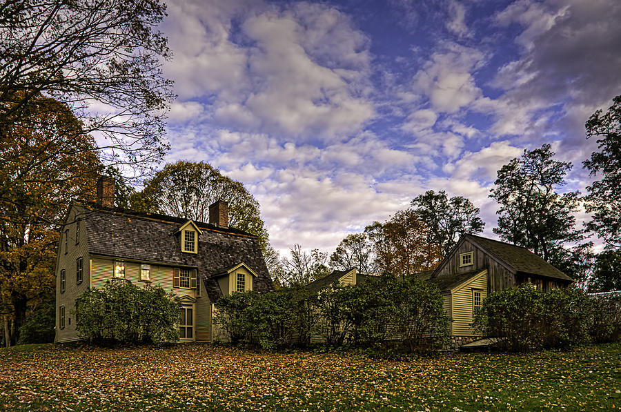 Concord Photograph - Old Manse In Autumn Glory by Jose Vazquez