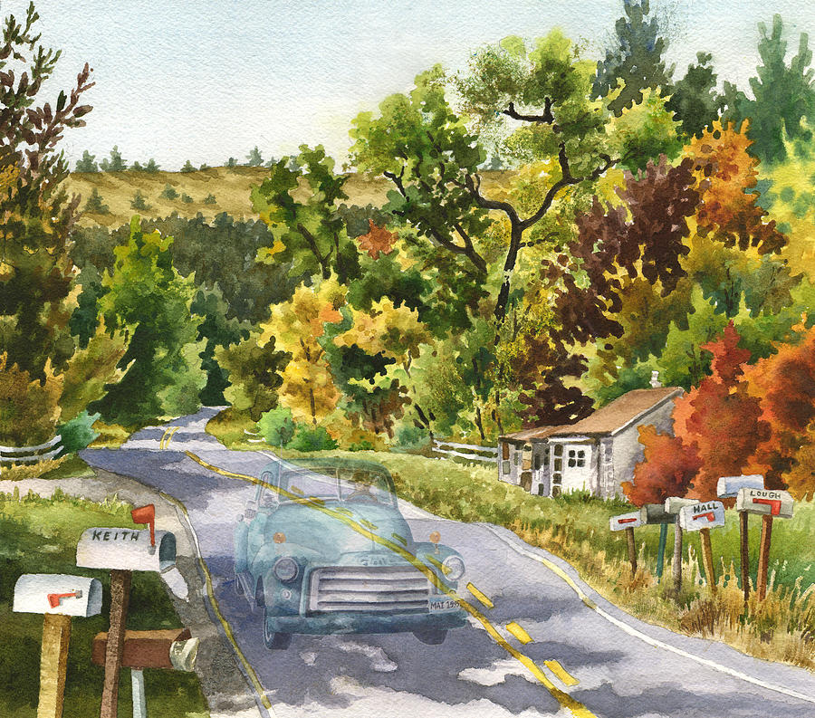 Road Painting Painting - Old Marshall by Anne Gifford