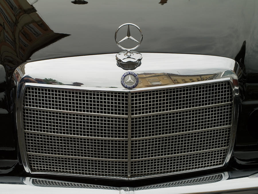 Old Photograph - Old Mercedes Logo by Odon Czintos