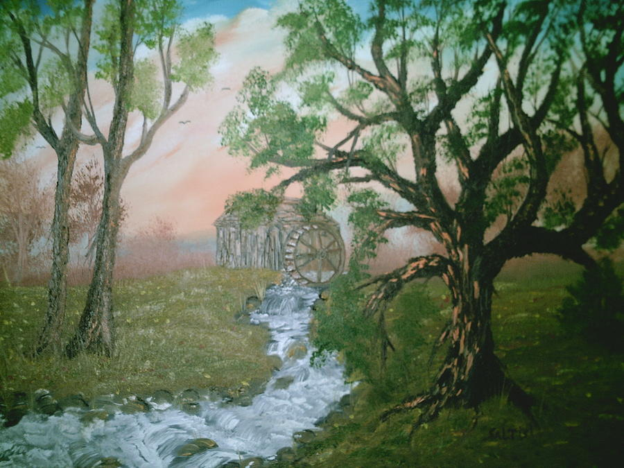 Trees Painting - Old Mill by Jim Saltis