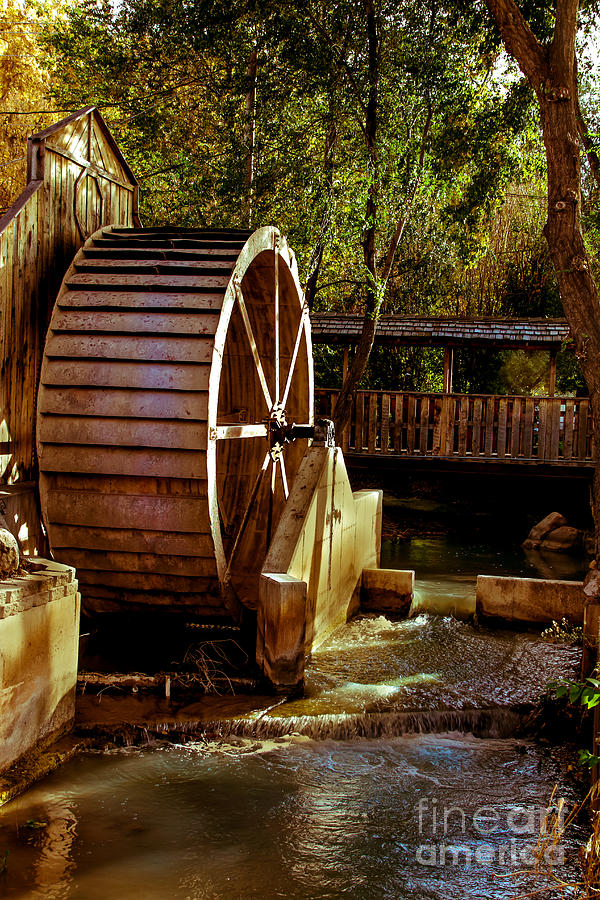 Water Wheel Photograph - Old Mill Park Wheel by Robert Bales