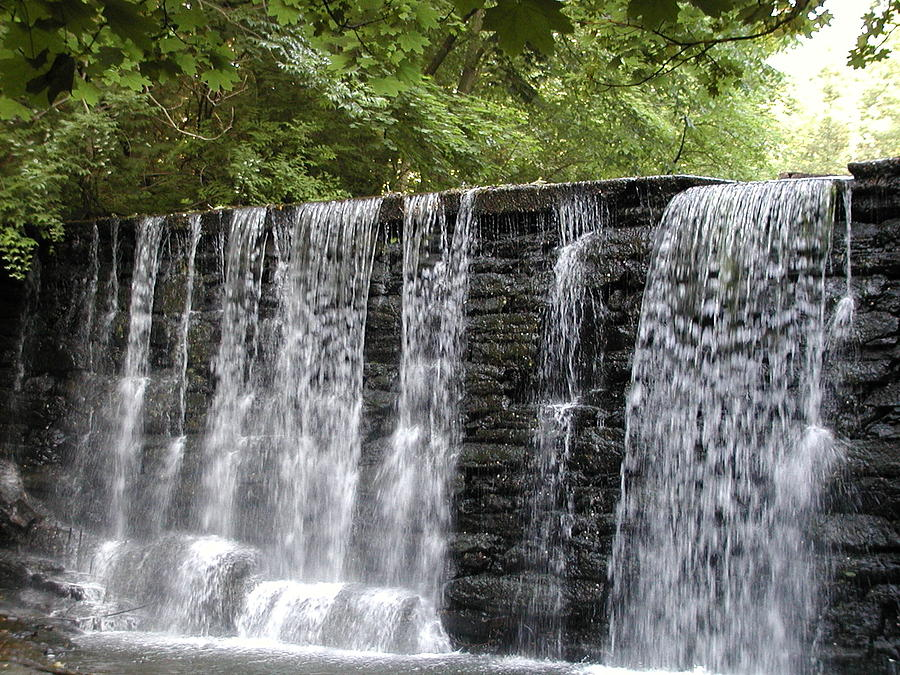Old Mill Photograph - Old Mill Waterfall by Bill Cannon