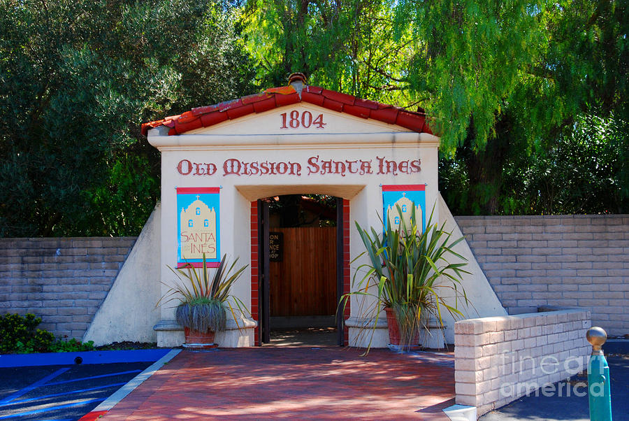 Mission Photograph - Old Mission Santa Ines Solvang California by Susanne Van Hulst