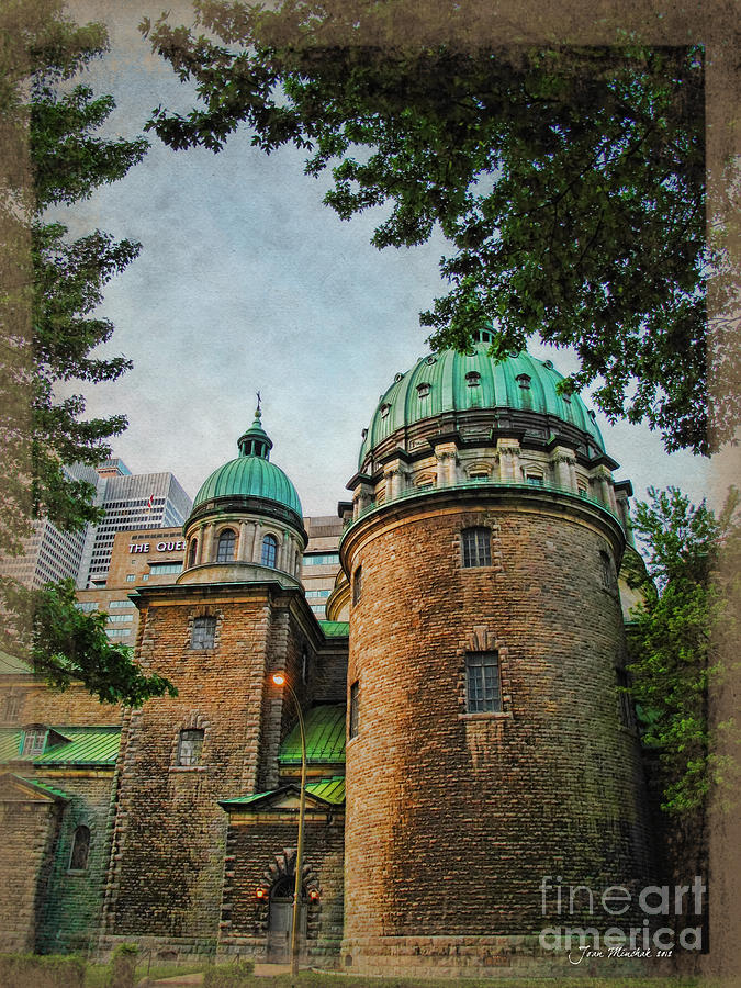 Cathedral Photograph - Old Montreal Church by Joan  Minchak