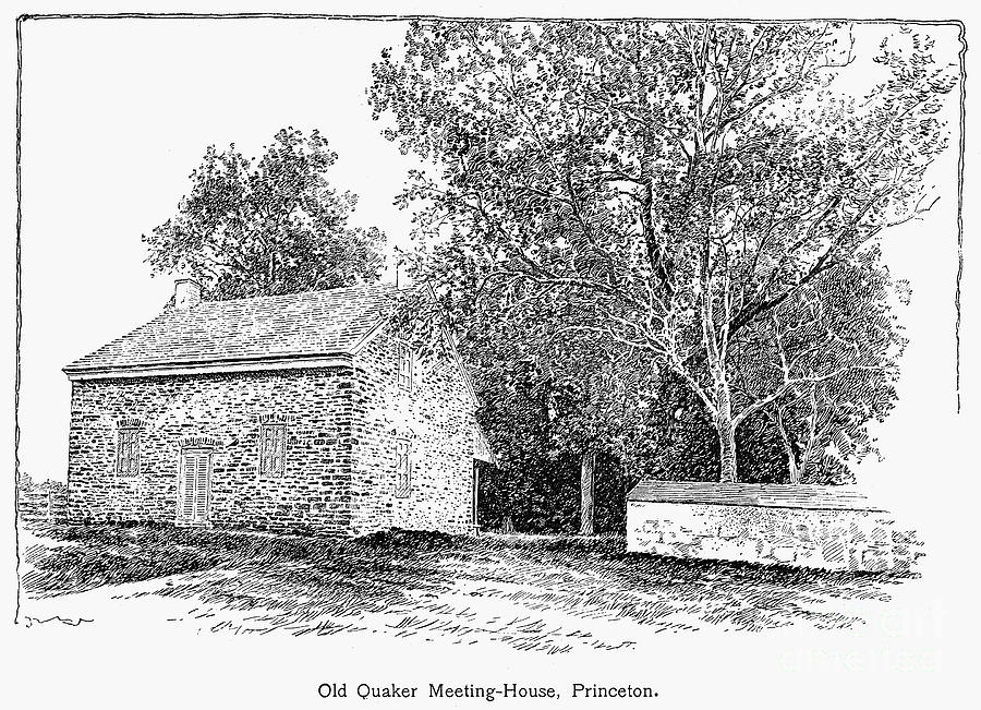 1893 Photograph - Old Quaker Meeting House by Granger