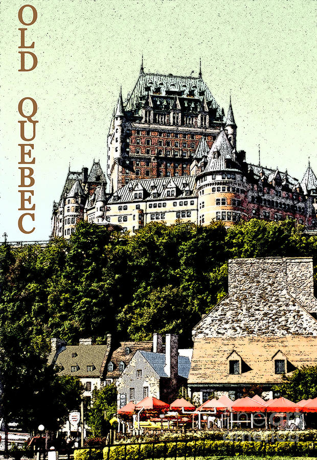Chateau Frontenac Photograph - Old Quebec by Linda  Parker