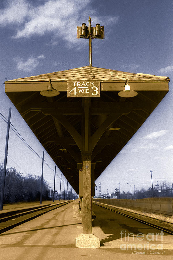 Railway Photograph - Old Railway Platform by Gordon Wood