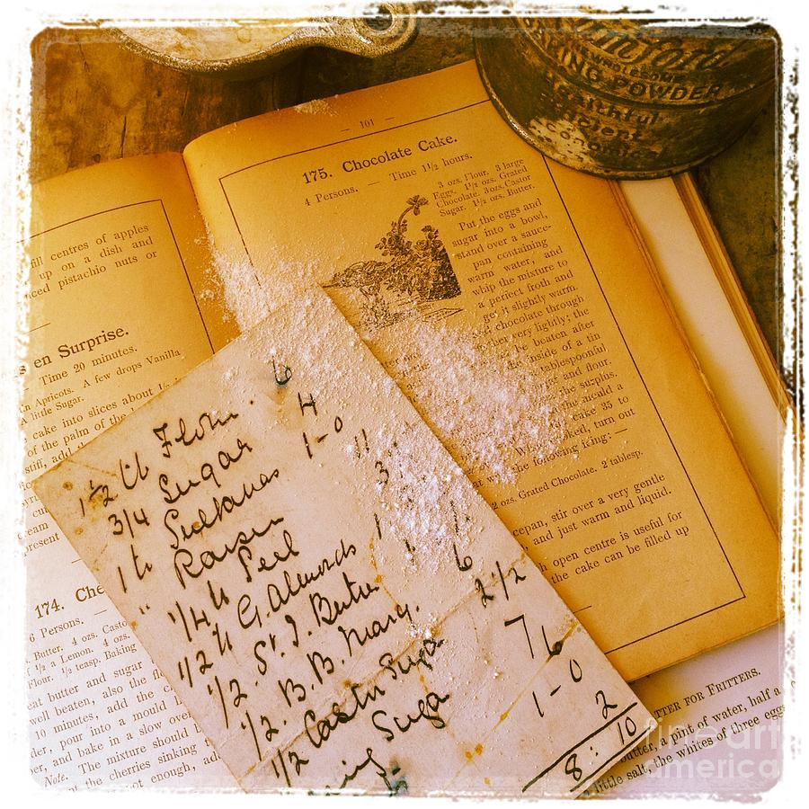 Recipes Photograph - Old Recipes by Ruby Hummersmith