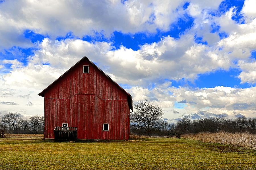 Barn Photograph - Old Red Barn by Steven Jones