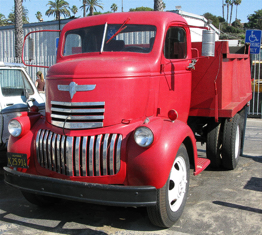 Old Red Chevrolet Dump Truck Photograph by Carl Deaville