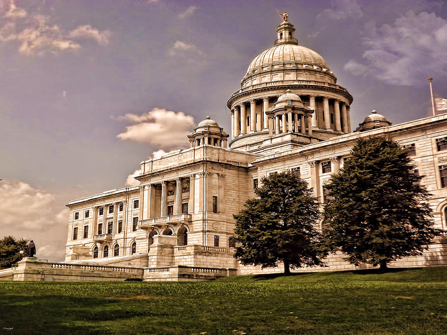 Providence Photograph - Old Rhode Island State House by Lourry Legarde